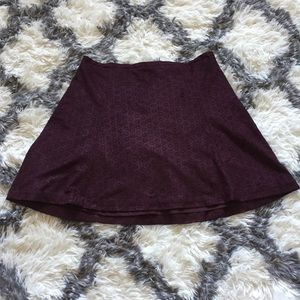 🆕 Express Fully Lined Plum Laser-Cut Suede Skirt